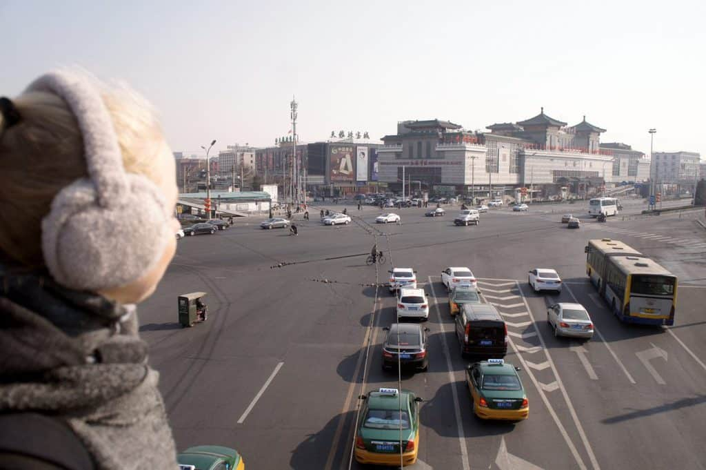 a girl in Beijing