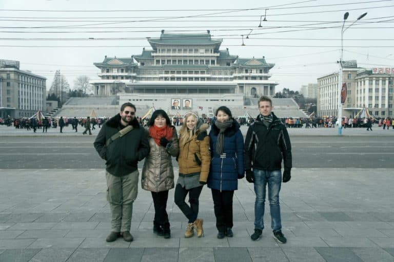 Tour guides in North Korea