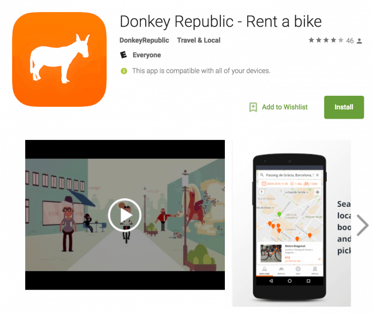 Donkey Republic app