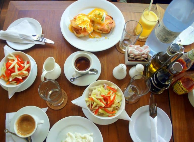 Seagull cafe breakfast, Male, the Maldives