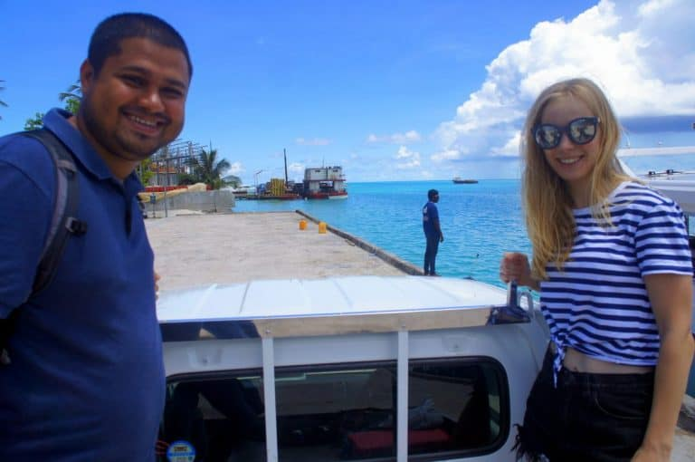 Arrived at Thulusdhoo island