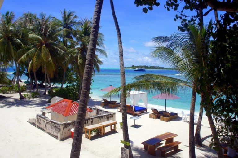 Our room view at the Canopus Retreats, Thulusdhoo island