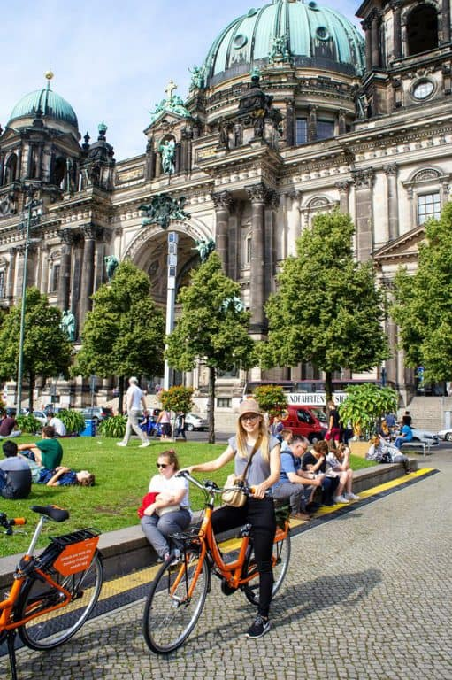 Cycling around Berlin Cathedral