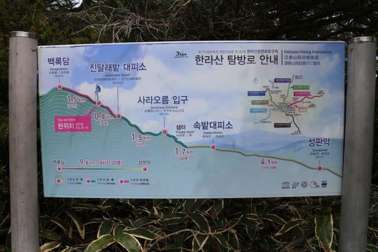 hallasan-hike-sign