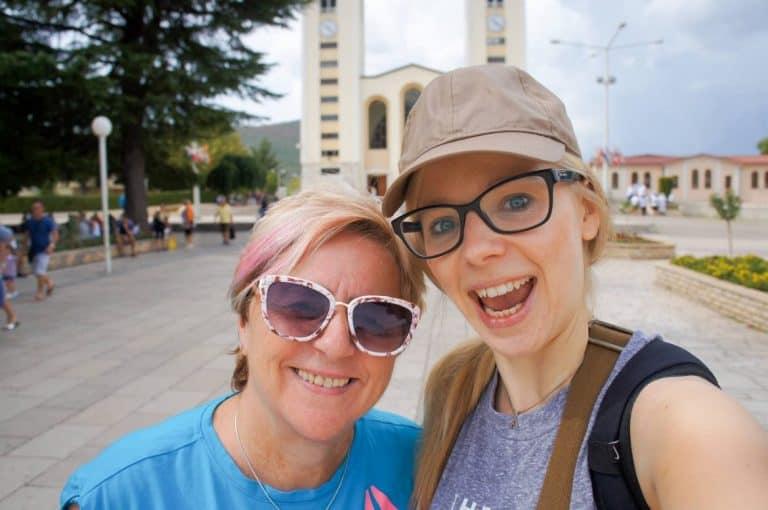 Agness and her mom visit Medjugorje
