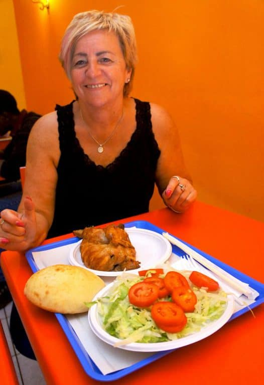 Eating kebab in Foggia city, Italy
