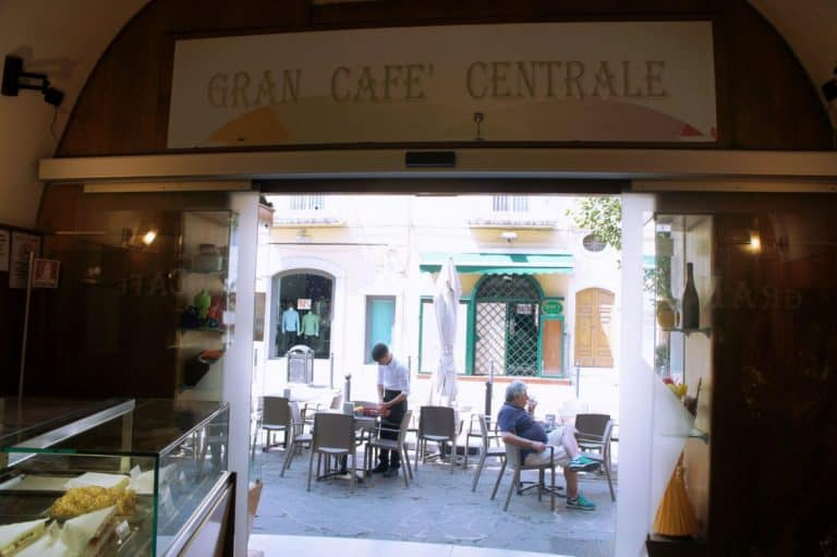 Cafe in Foggia city, Italy