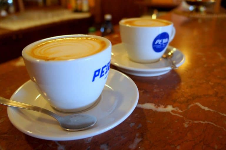 A cup of coffee at Hotel Valle Rossa, San Giovanni Rotondo