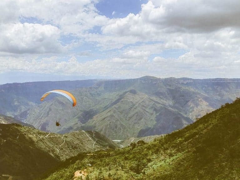 Paragliding, San Gil, Colombia