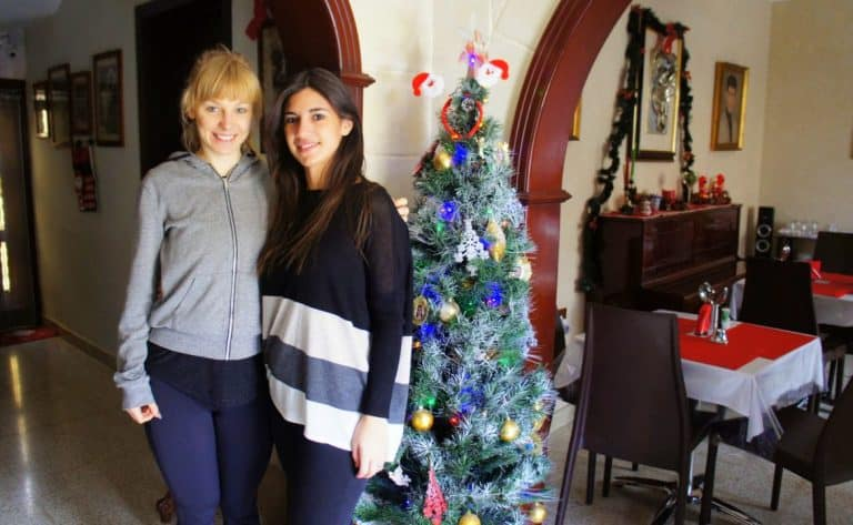 Agness and Rochelle at D'Ambrogio Guest House
