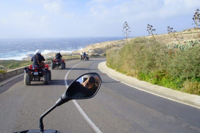 Riding a quad bike in Malta