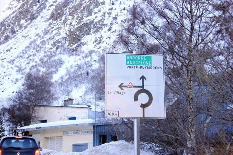 A sign in Andorra
