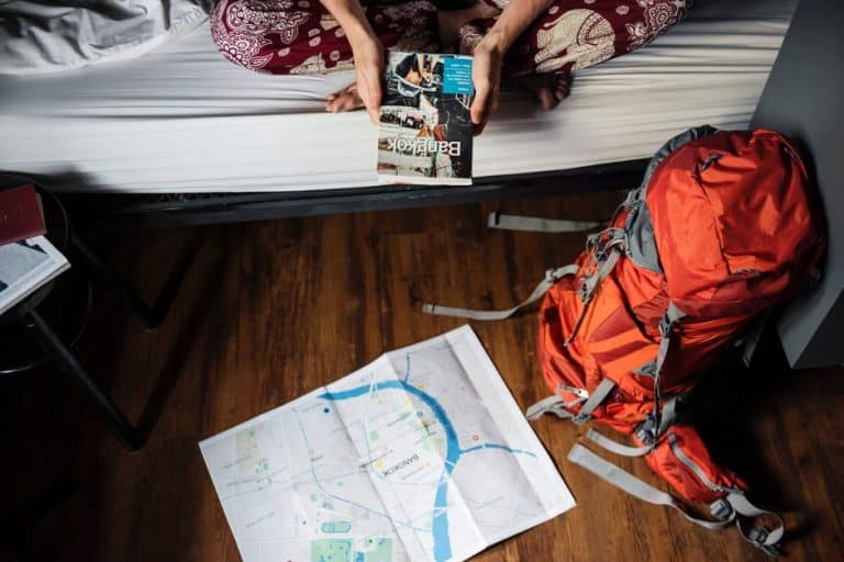Backpacking and reading