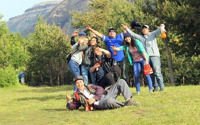 Un grupo de chilenos que conocí en la Patagonia