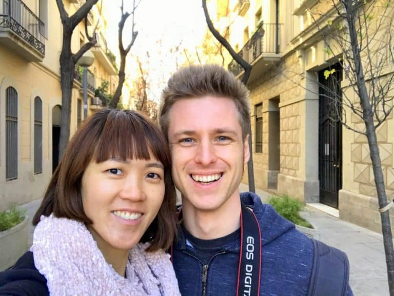 Cez and Lydia in Barcelona
