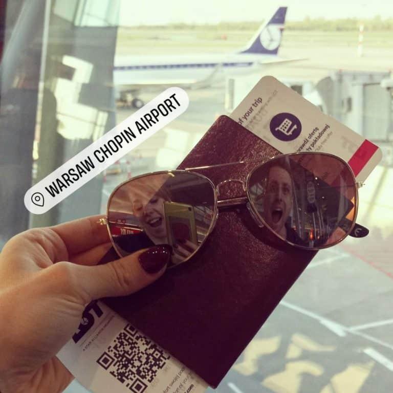 Airport selfie Etramping