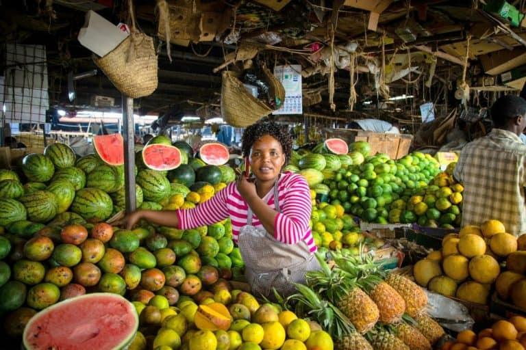 Nairobi's fruit and vegetable market