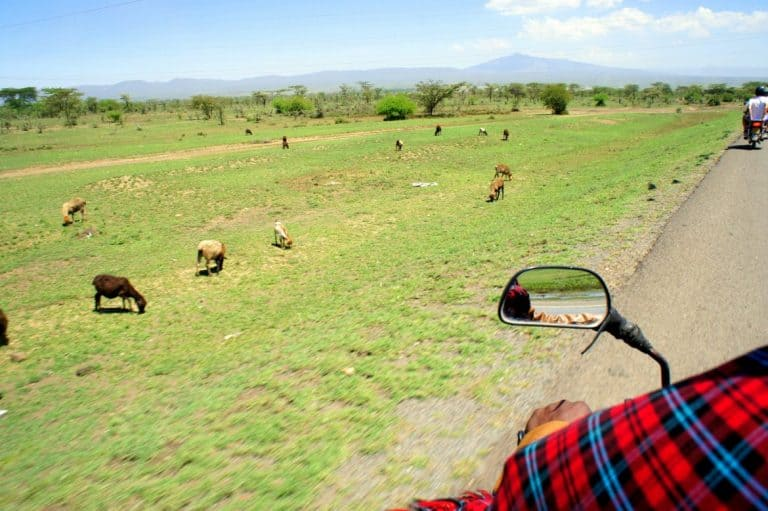 Bike ride Maasai