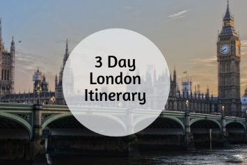 3 day london itinerary