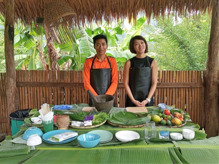 Lao cuisine cooking class in Luang Prabang