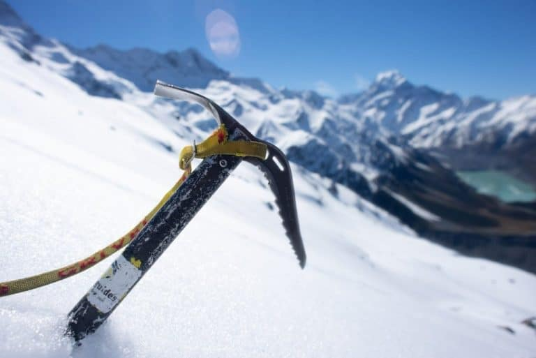 an ice axe for winter alpine hiking