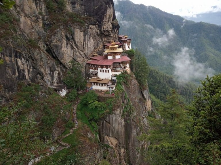 The Bhutan tour itinerary - the Tiger's Nest