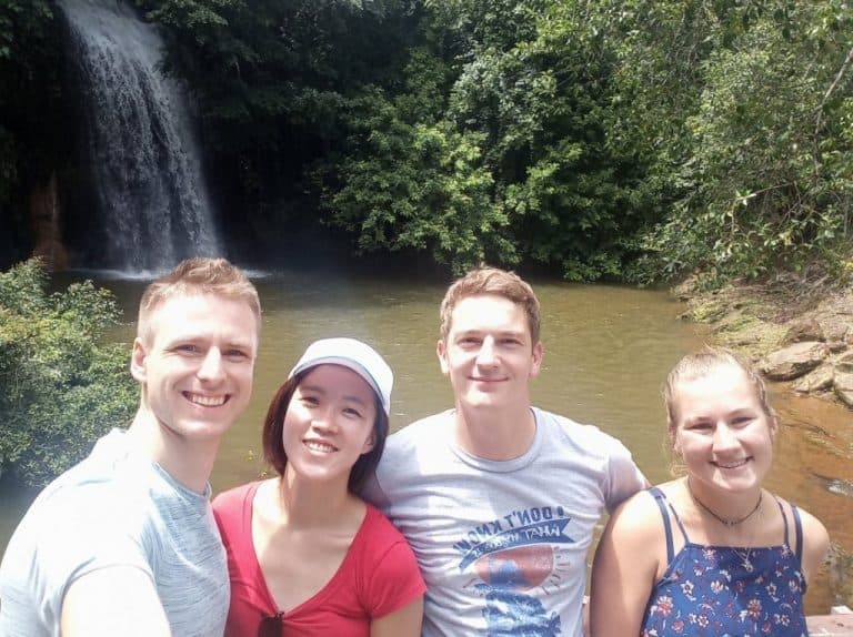 Friends exploring the Tasek Lama waterfall park