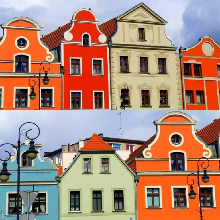 Colorful buildings in Zagan