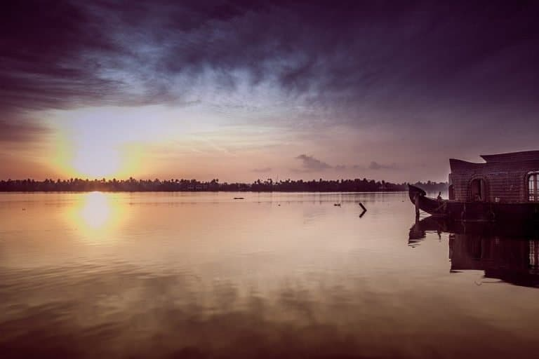 Sunset over the backwaters - what more could you want?