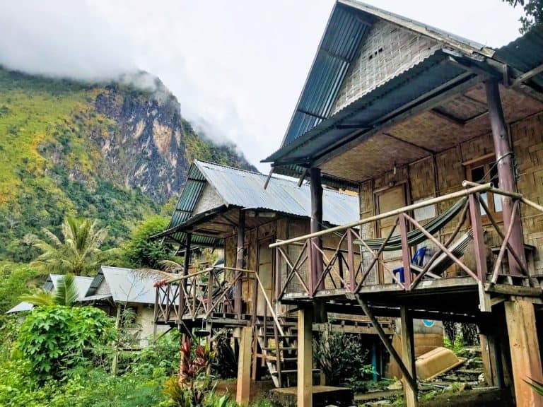 bungalows in Nong Khiaw Laos