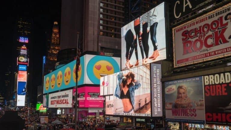 Broadway lights NYC
