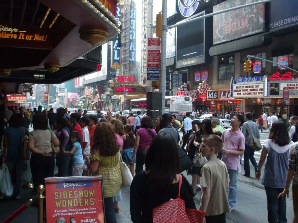 Crowded Times Square