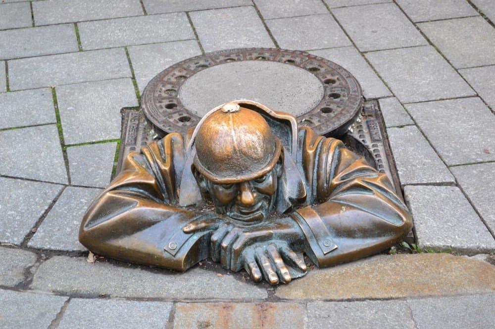 Famous Bratislava Statue