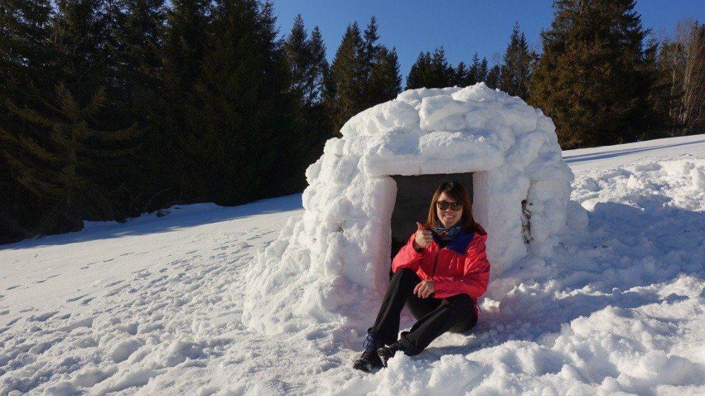 Lydia Outside Her Igloo