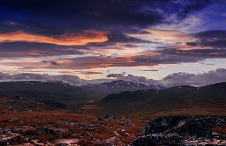 Sarek National Park In Sweden