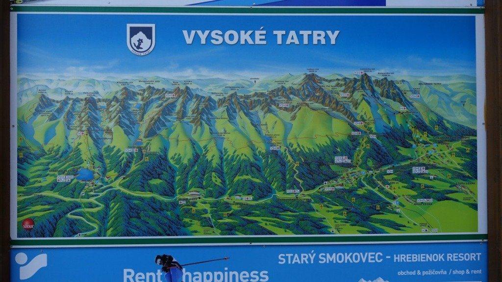 Ski Map In Slovakia