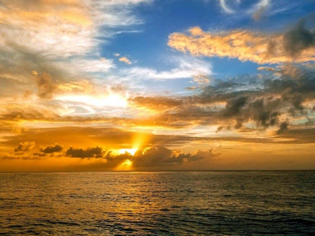 Cozumel Sunset From Boat 3