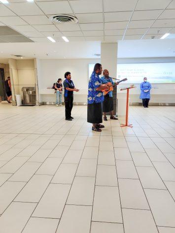 Nadi Airport welcoming tourists