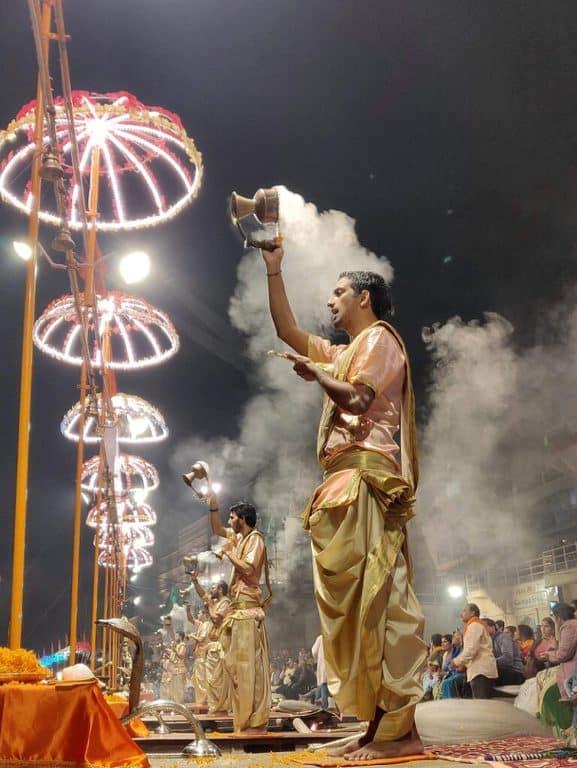 Ganga Aarti At Ghat