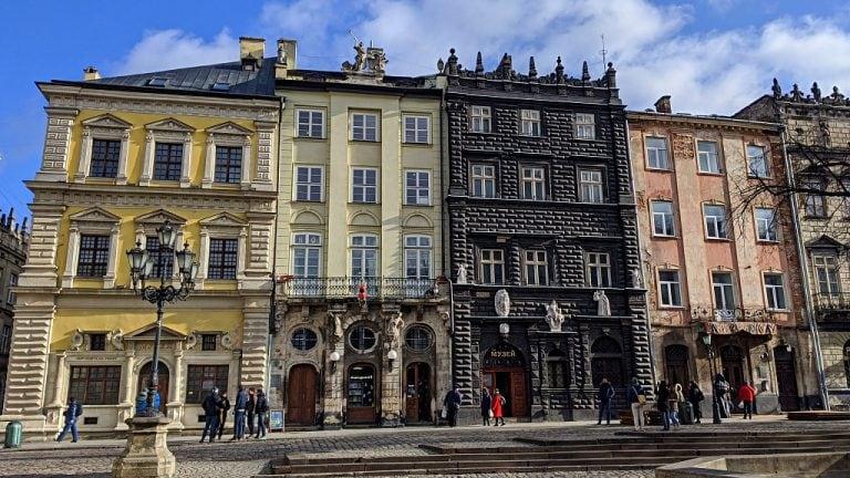 Lviv Rynok Square buildings