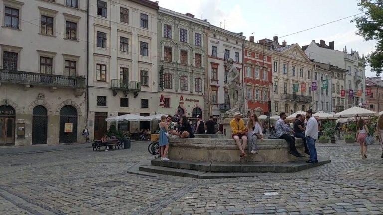 People In Rynok Square